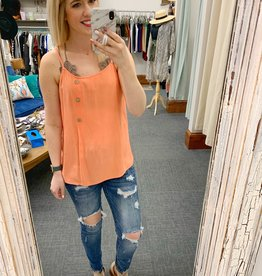 Peach Button Tank
