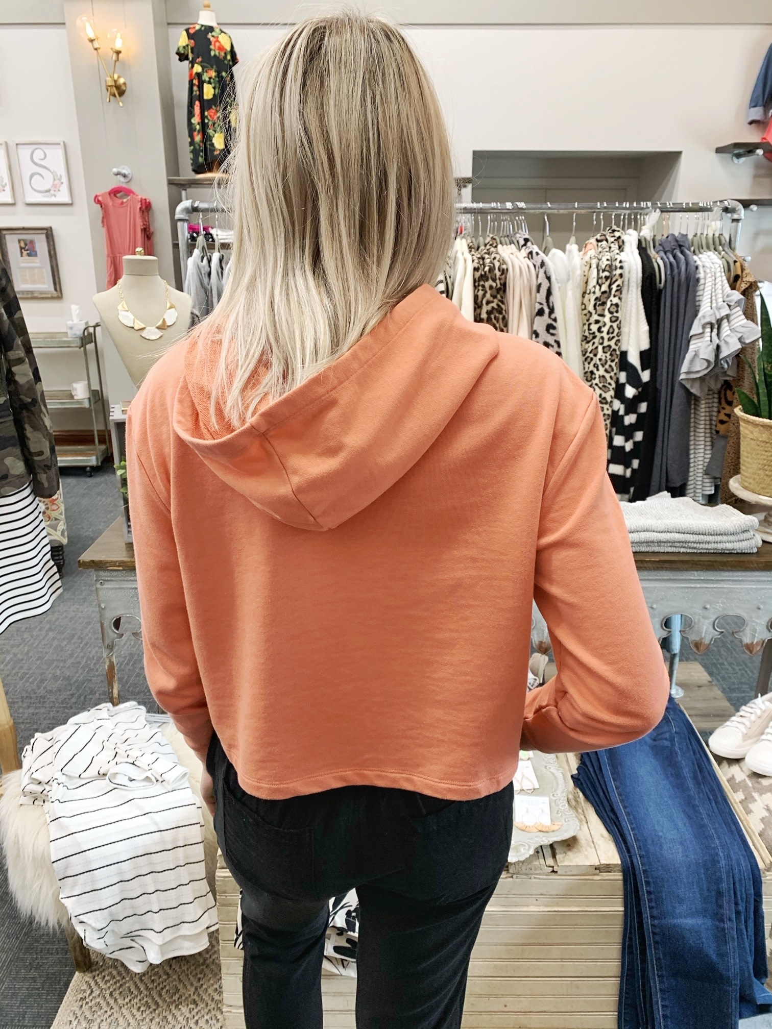 Sunset Cropped Hoodie