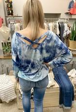 Blue Tie Dye Top