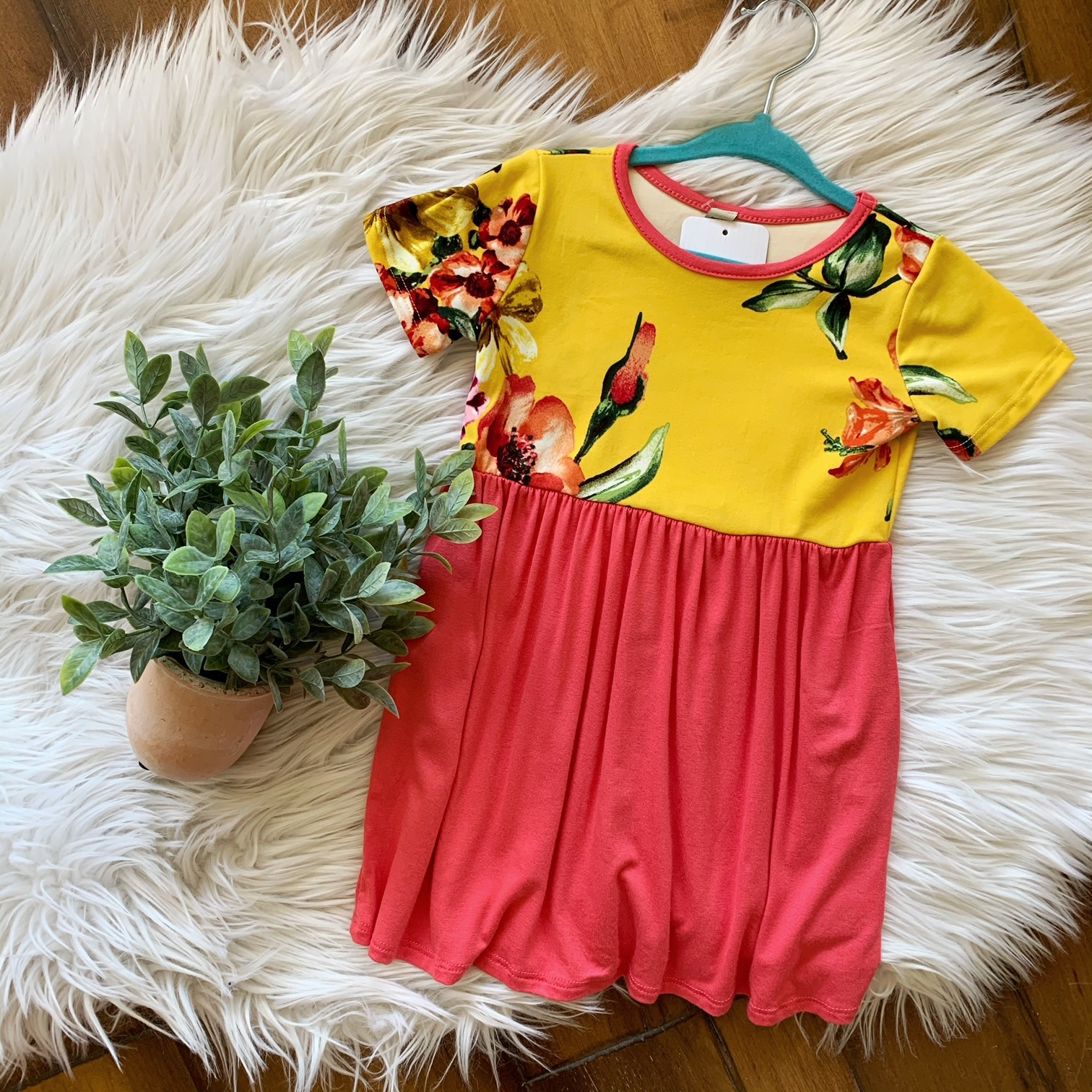 Pomelo Floral Yellow Toddler Dress