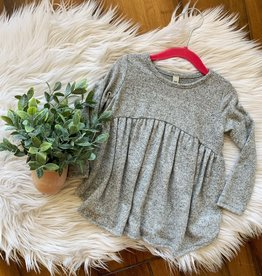 Gray Babydoll Top