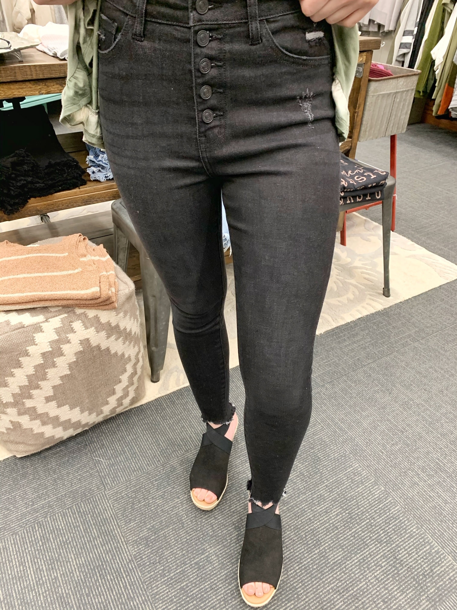 Kancan Vintage Black High Rise Jean