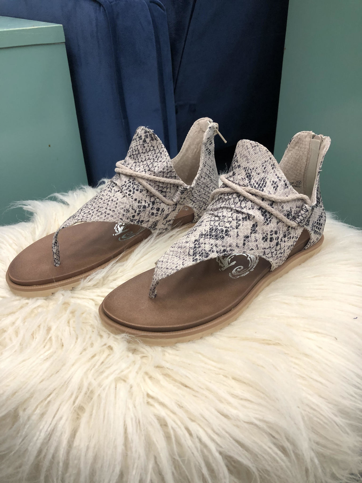 Ally Snakeskin Sandal