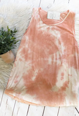 Coral Tie Dye Tank