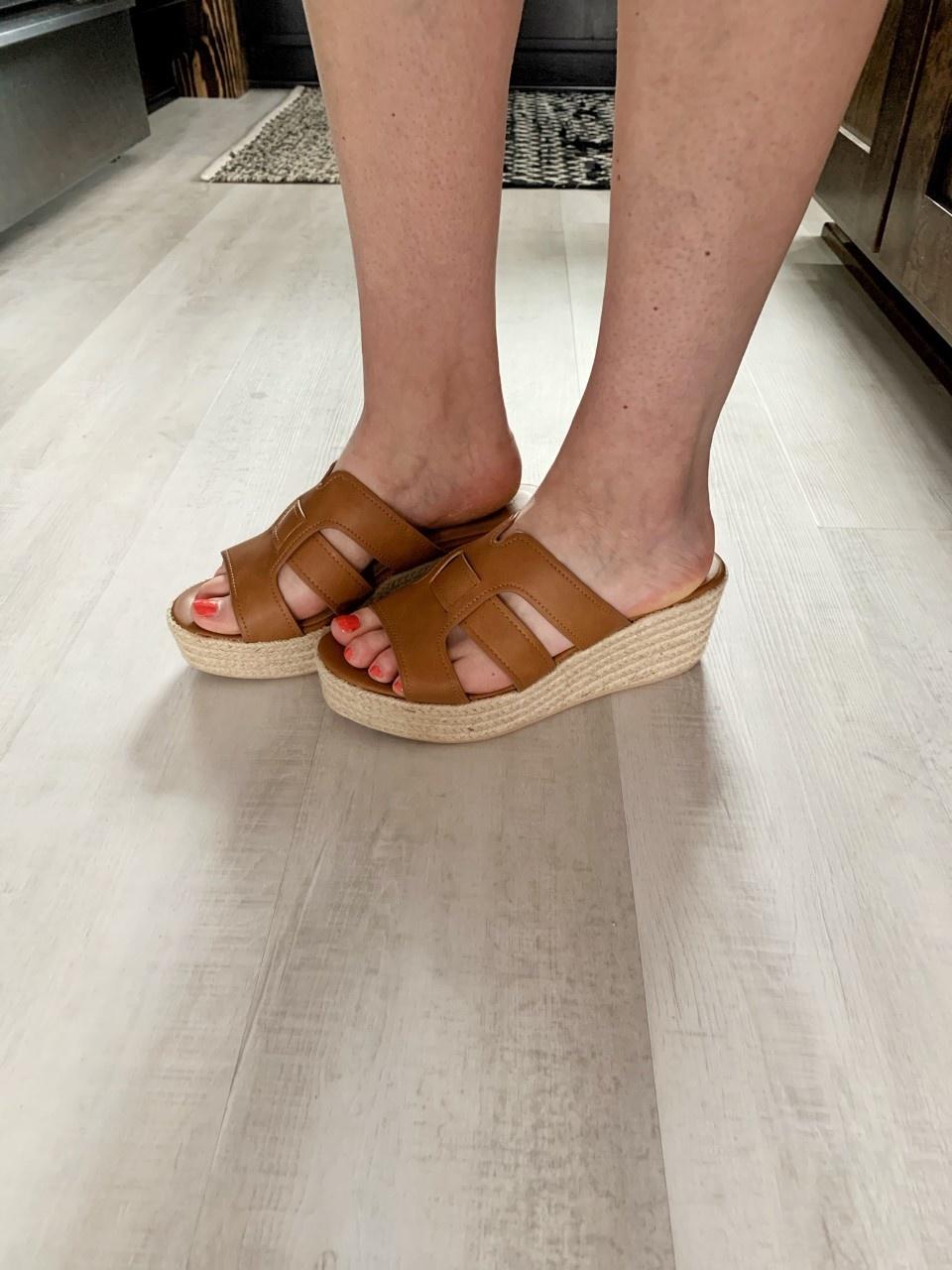 Tan Espadrille Sandal