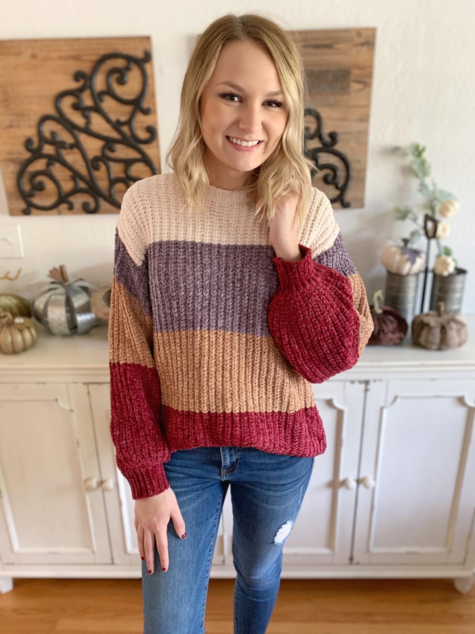 Burgundy Sadie Sweater
