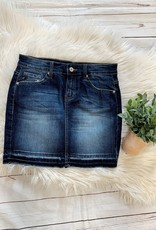 Kancan Dark Wash Denim Skirt