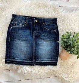 Kancan Dark Wash Denim Skirt