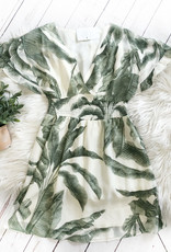 Palm Leaf Ruffle Dress