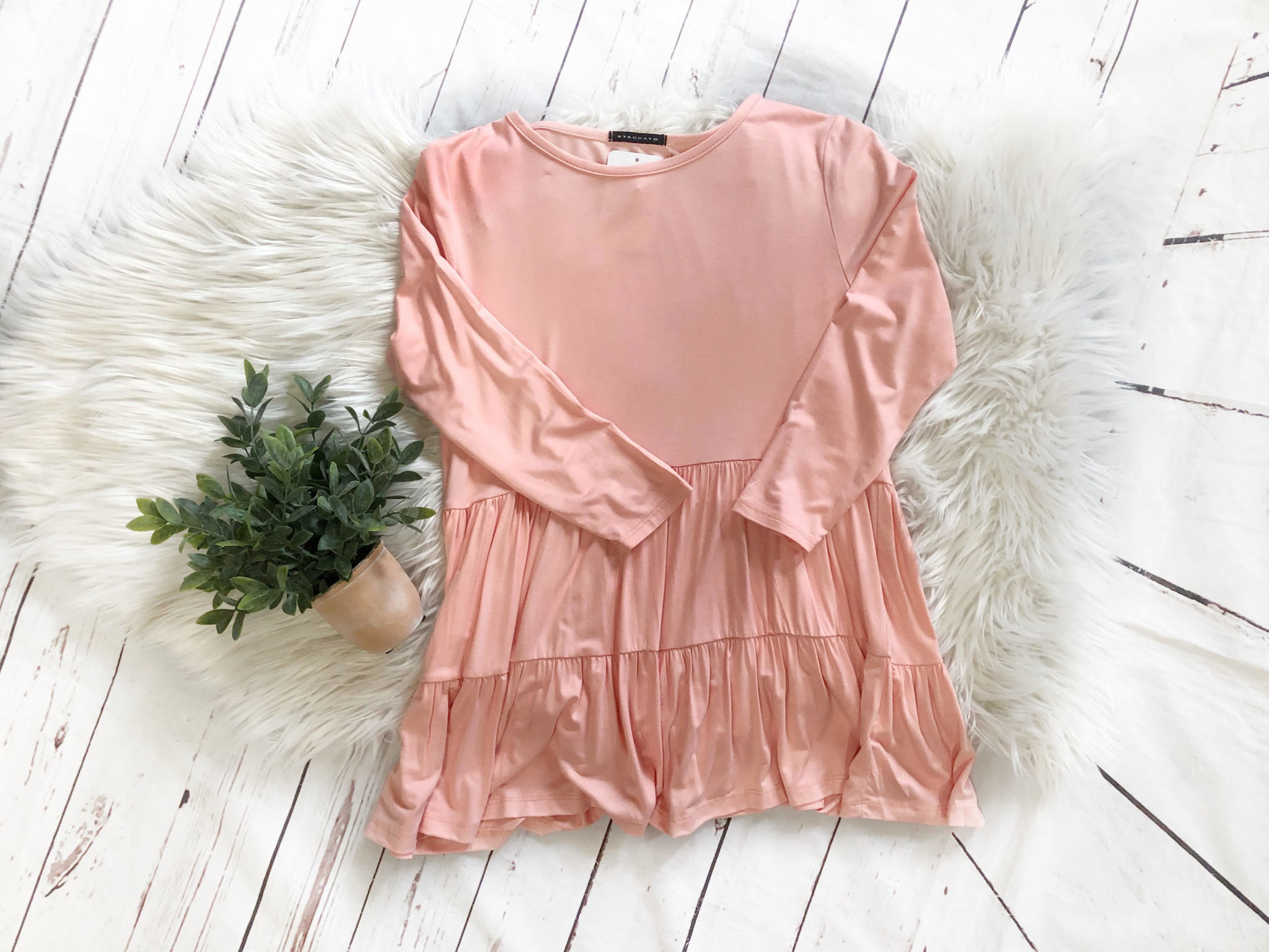 Blush Tiered Top