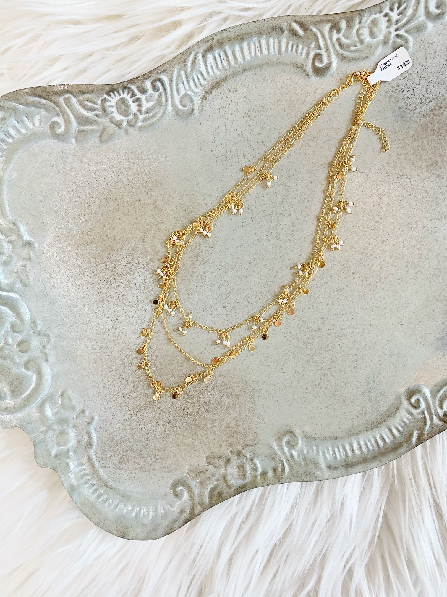 3 Layered Gold Necklace