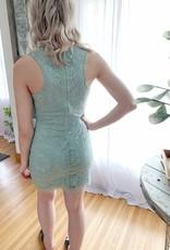 Mint Ace of Lace Dress