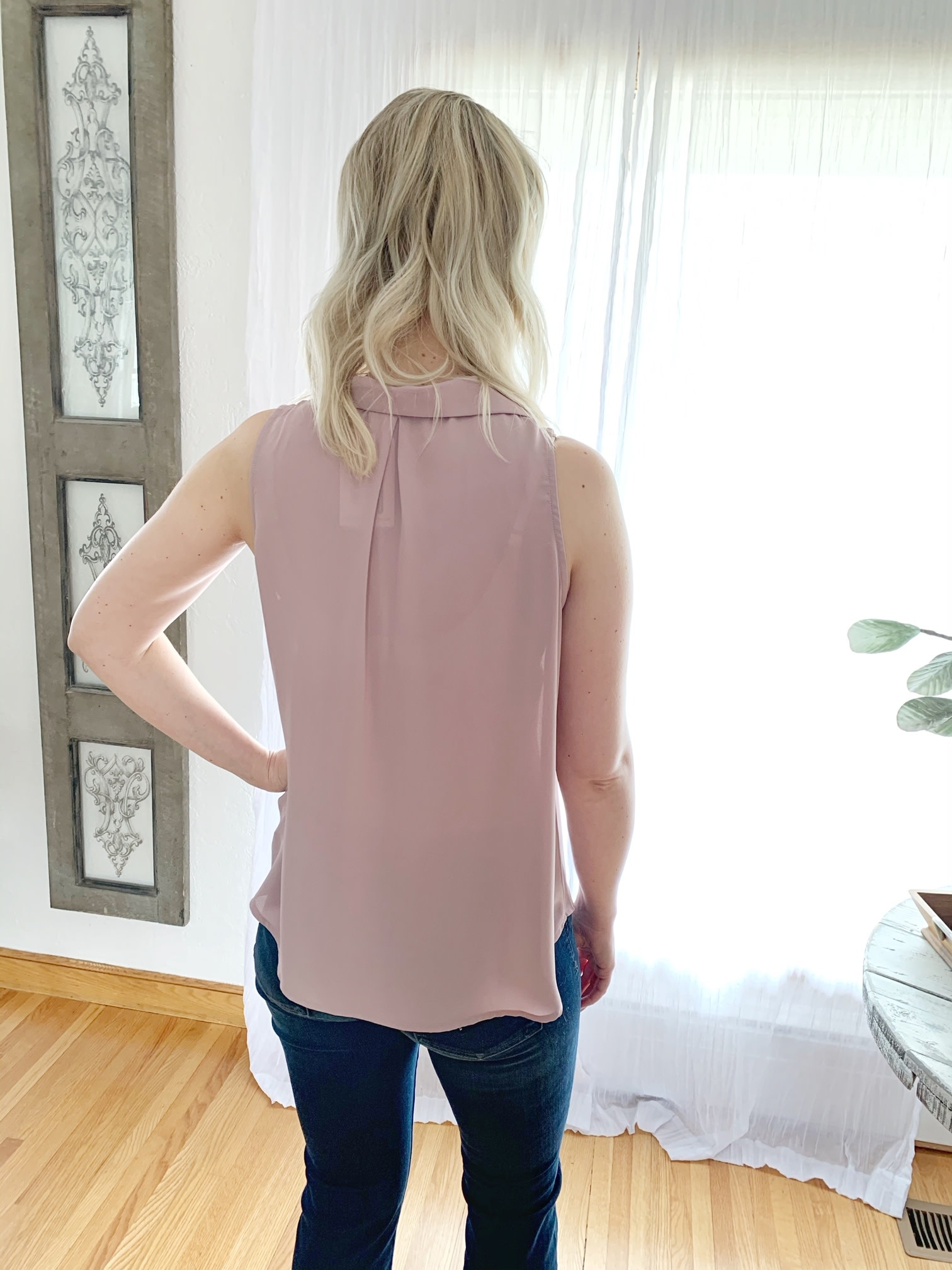 Mauve Sleeveless Shirt