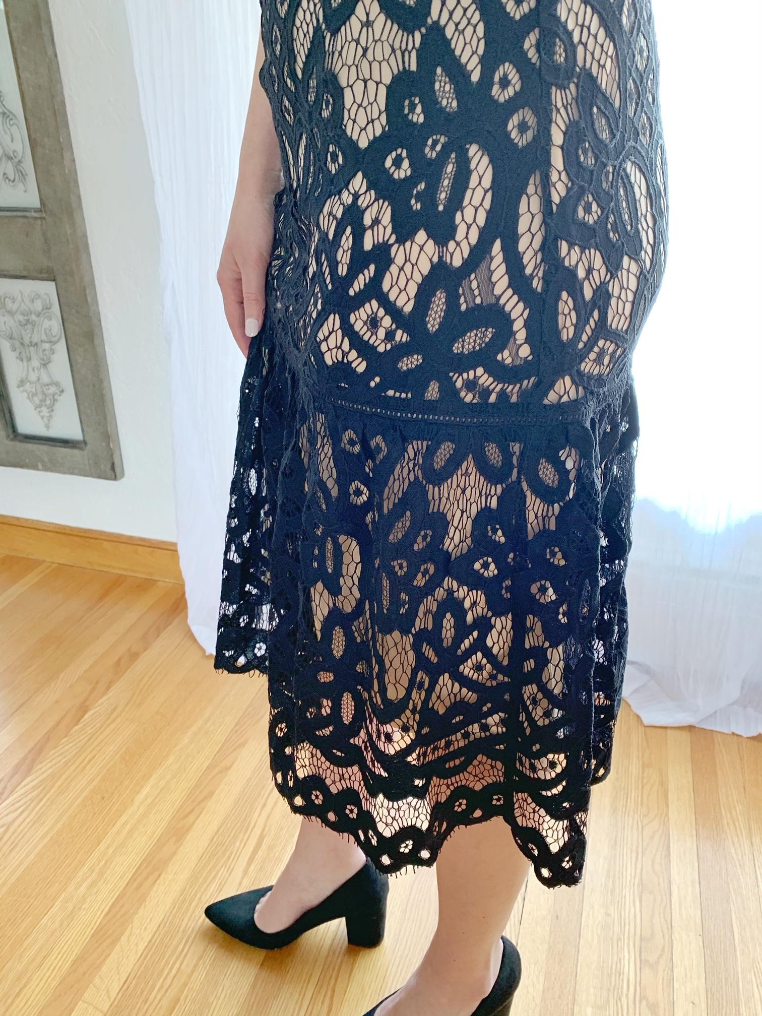 Black Lace Cami Dress