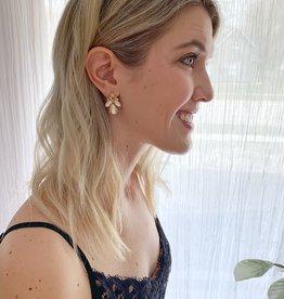 Gold Champagne Earrings