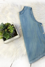 Denim Button Tank