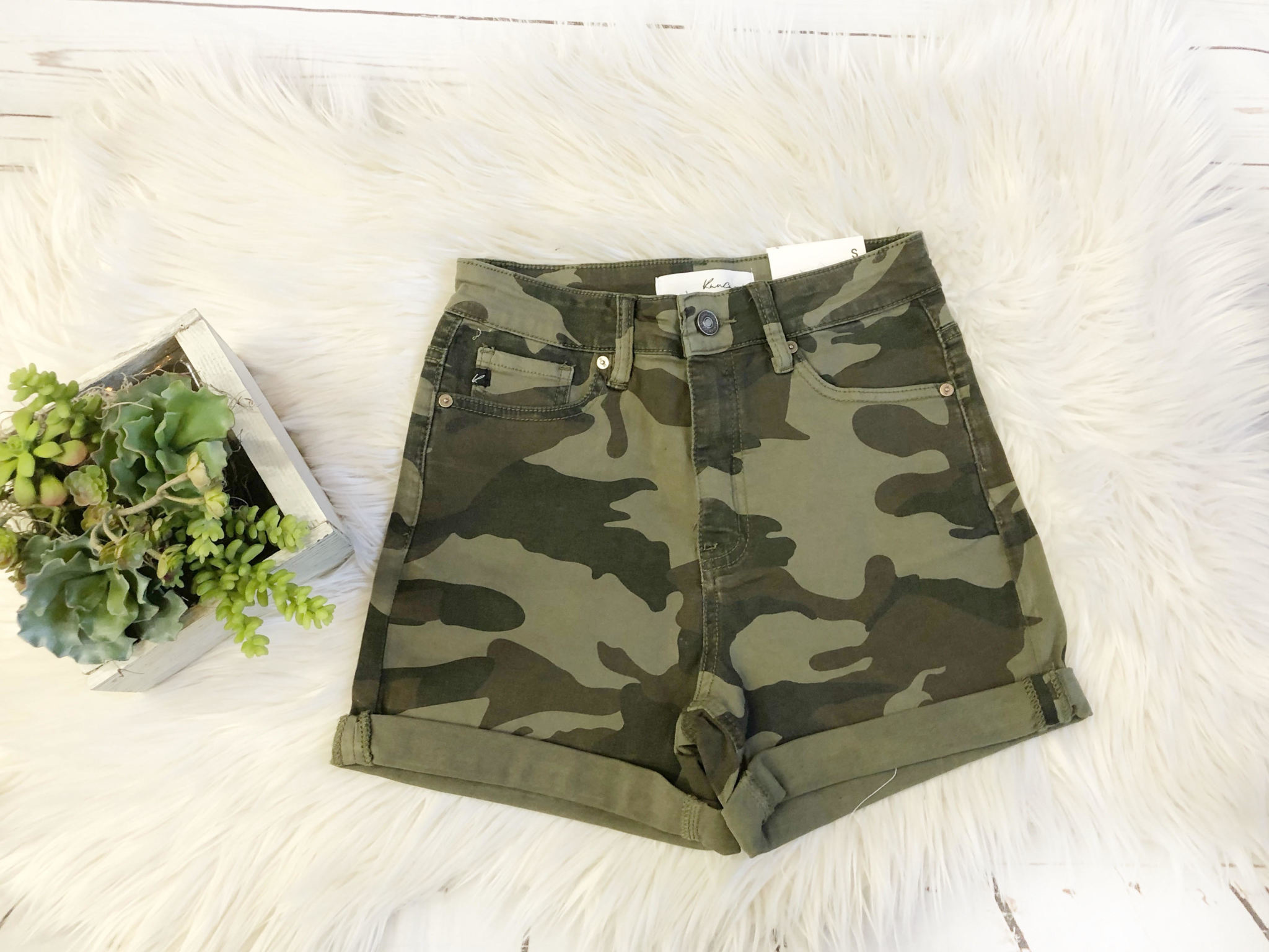 Kancan Camo High Rise Shorts
