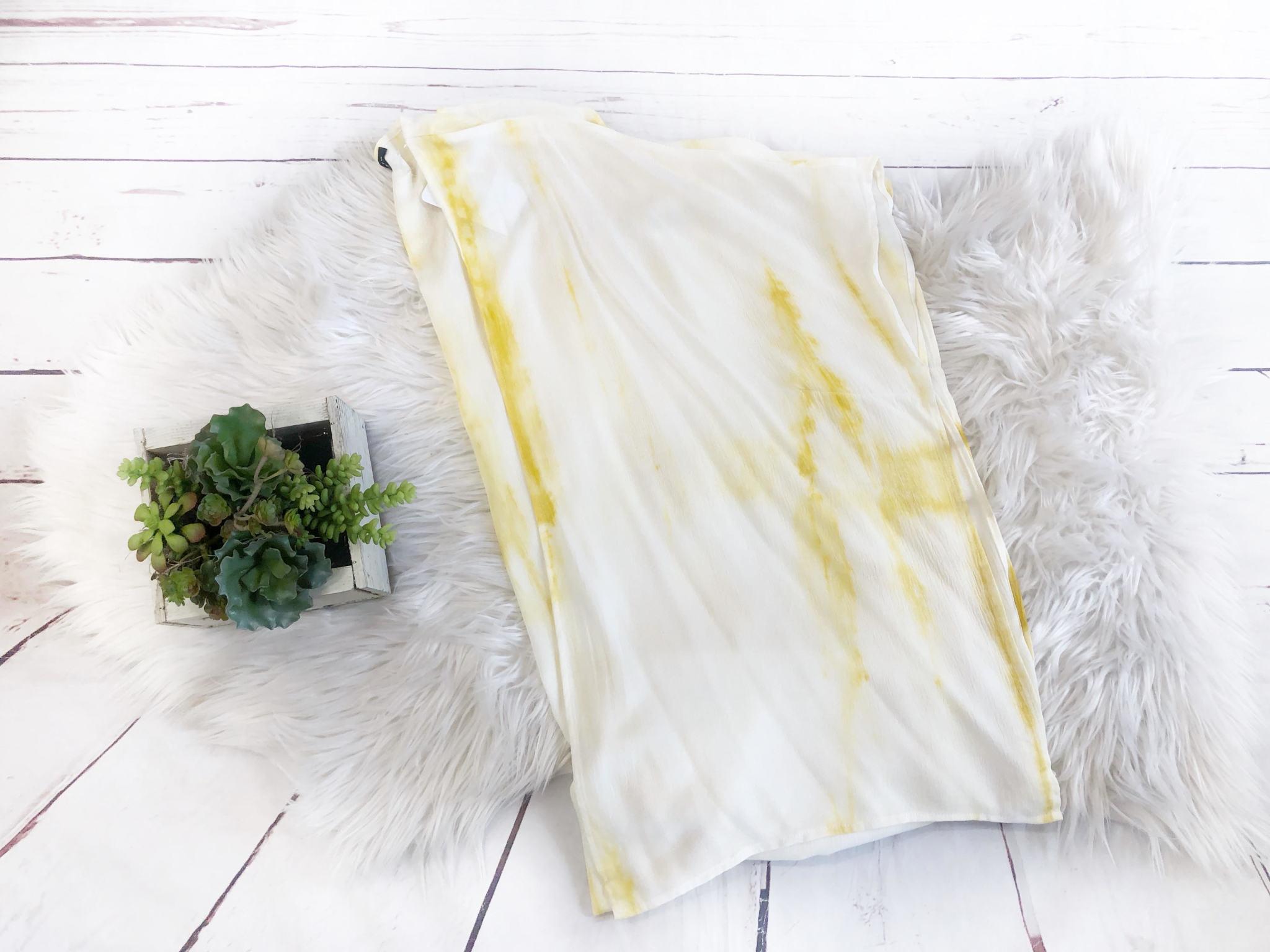 Mustard Tie Dye Kimono