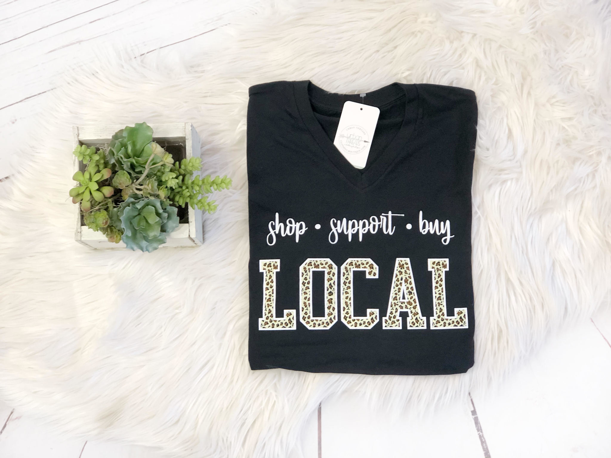 Support Local Leopard Tee