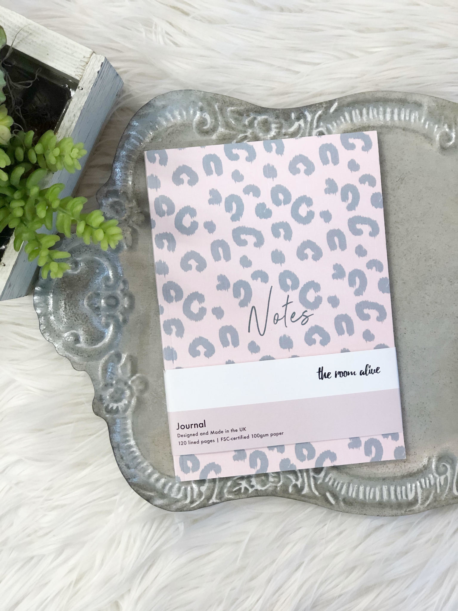 Pink Leopard Notes Journal