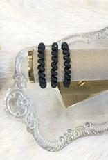Black Matte Hair Tie Set