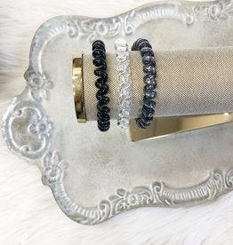 Black Diamond Metallic Hair Ties