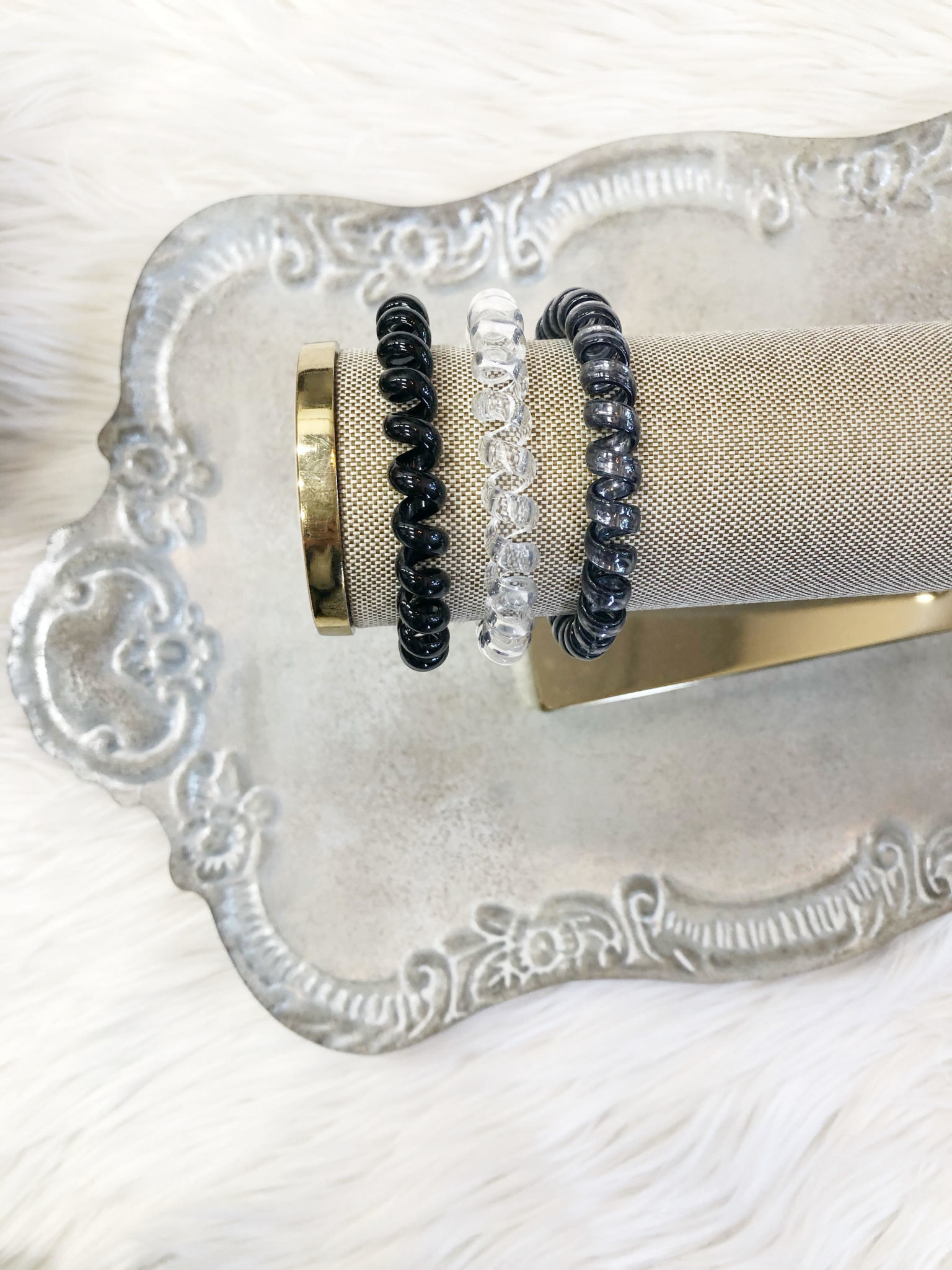 Black Diamond Metallic Hair Ties
