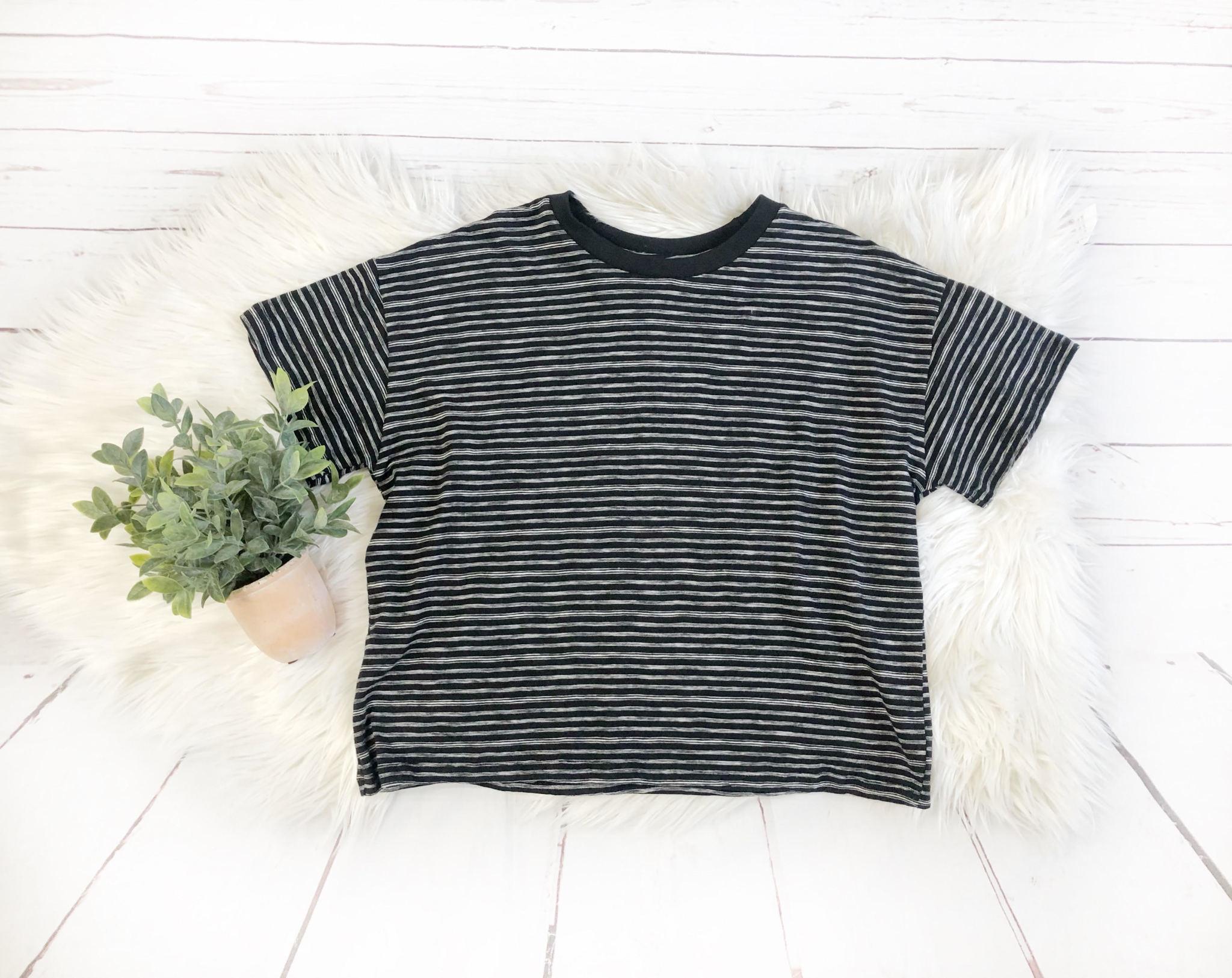 MOD REF Black/White Stripe Donnie Top
