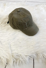 Olive Distressed Cap
