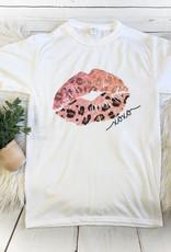Leopard Pink Lips Tee