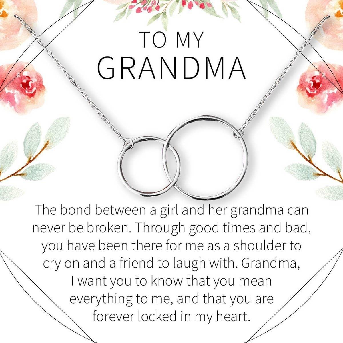 Silver Grandma Circle Necklace