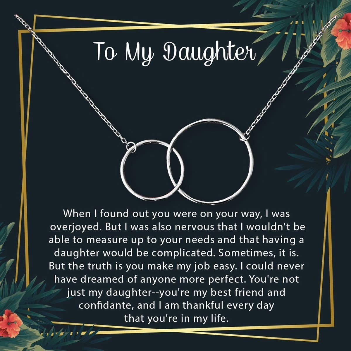 Silver Mother & Daughter Necklace