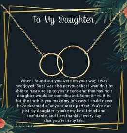 Gold Mother & Daughter Necklace