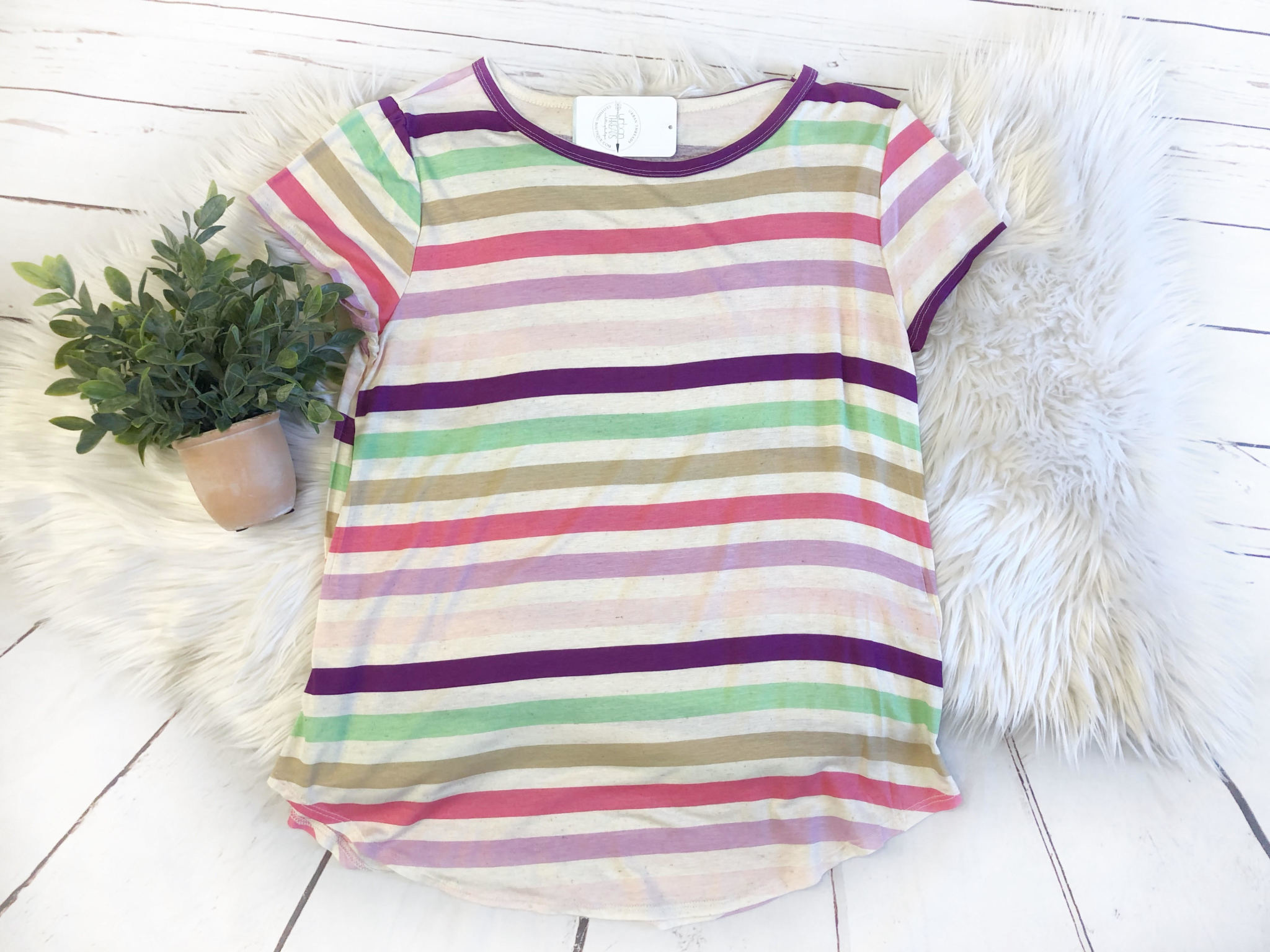 Pastel Striped Tee