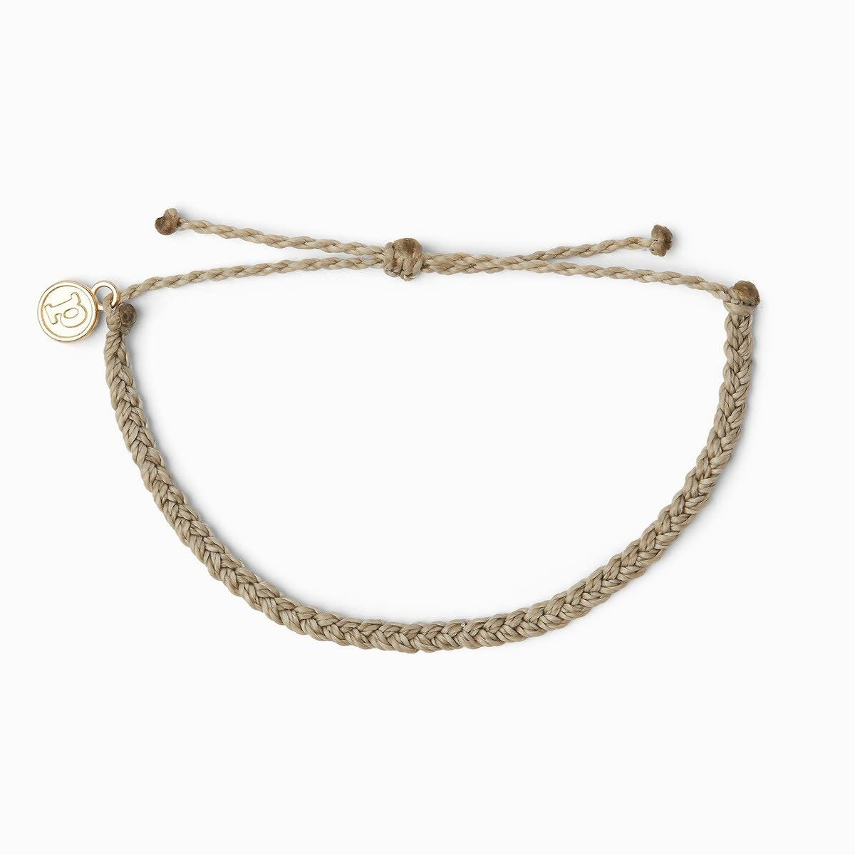PuraVida Light Grey Braided Bracelet