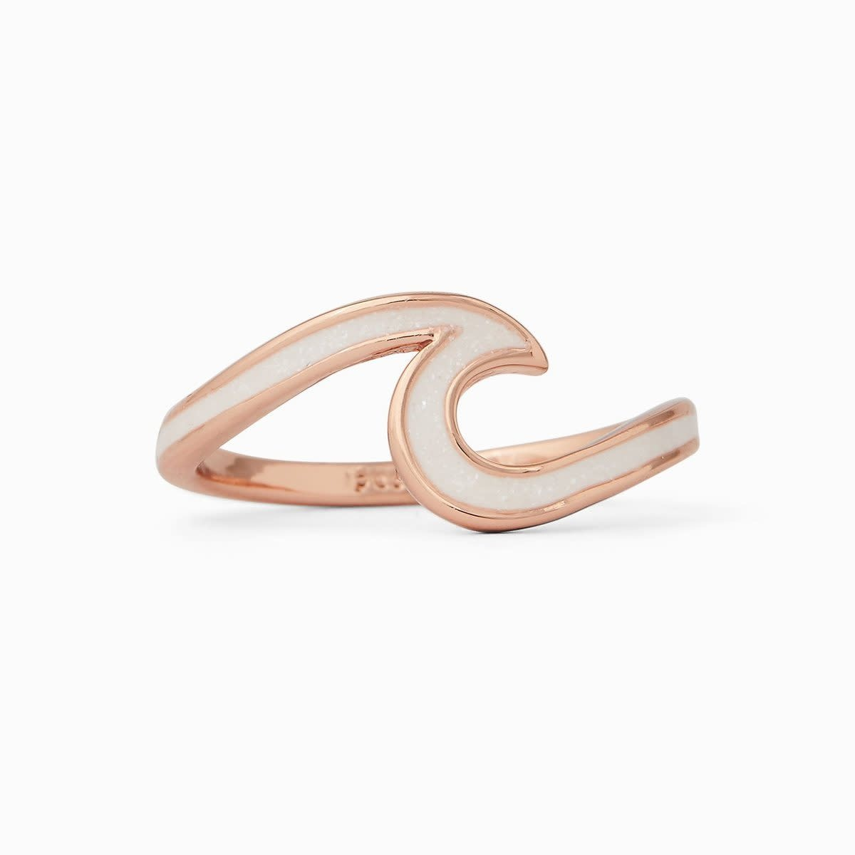 PuraVida Rose Gold Enameled Wave Ring