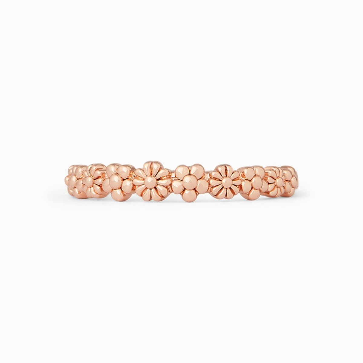 PuraVida Rose Gold Floral Ring