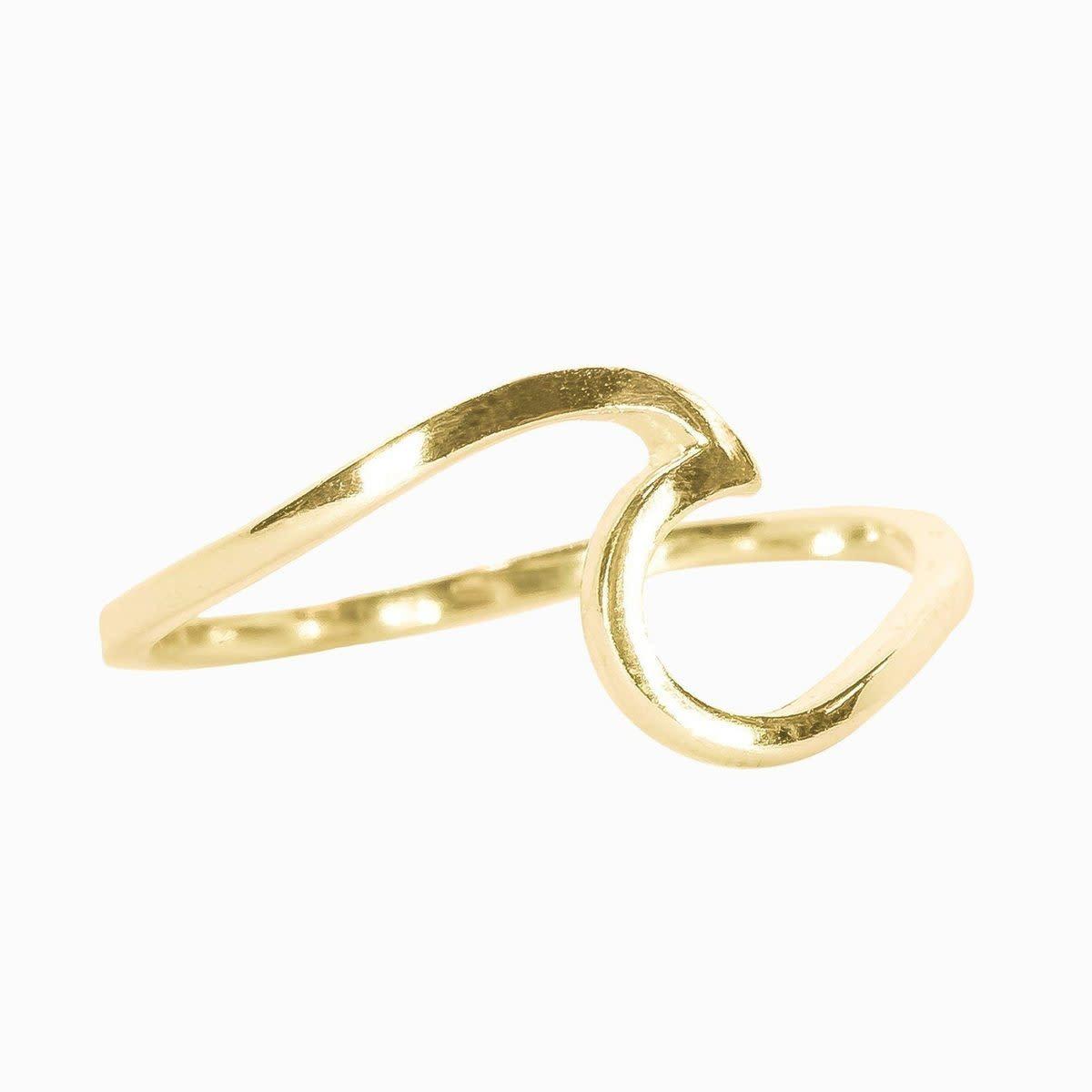 PuraVida Gold Wave Ring