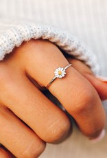 PuraVida Silver Daisy Ring