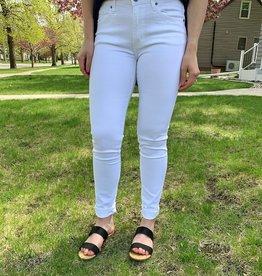 Kancan White Mid Rise Jean