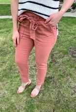 Mauve Paperbag Pants