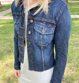 Kara Frayed Jean Jacket