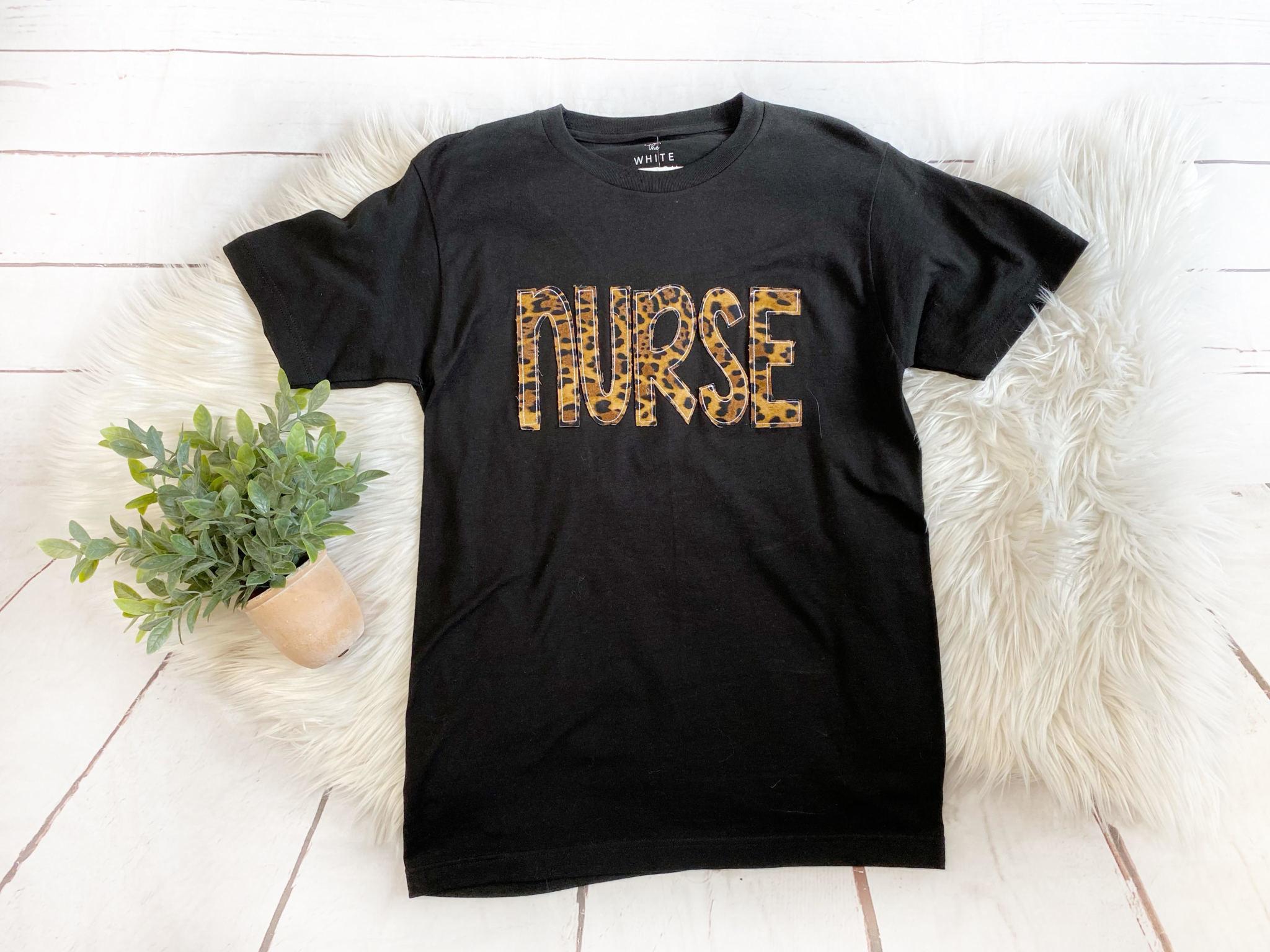 Nurse Cheetah Graphic Tee