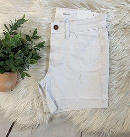 Kancan White Mid Rise Shorts