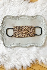 Brown Leopard Face Mask