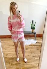 Pink Tie Dye Shorts