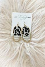 Oval Leopard Print Earrings