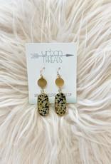 Dalmation Oval Drop Earrings