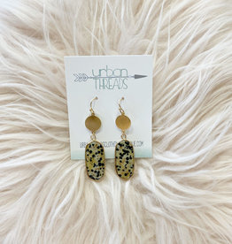 Dalmation Oval Drop Earrings