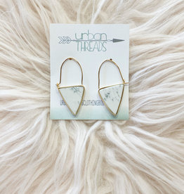 Howlite Stone Drop Earring